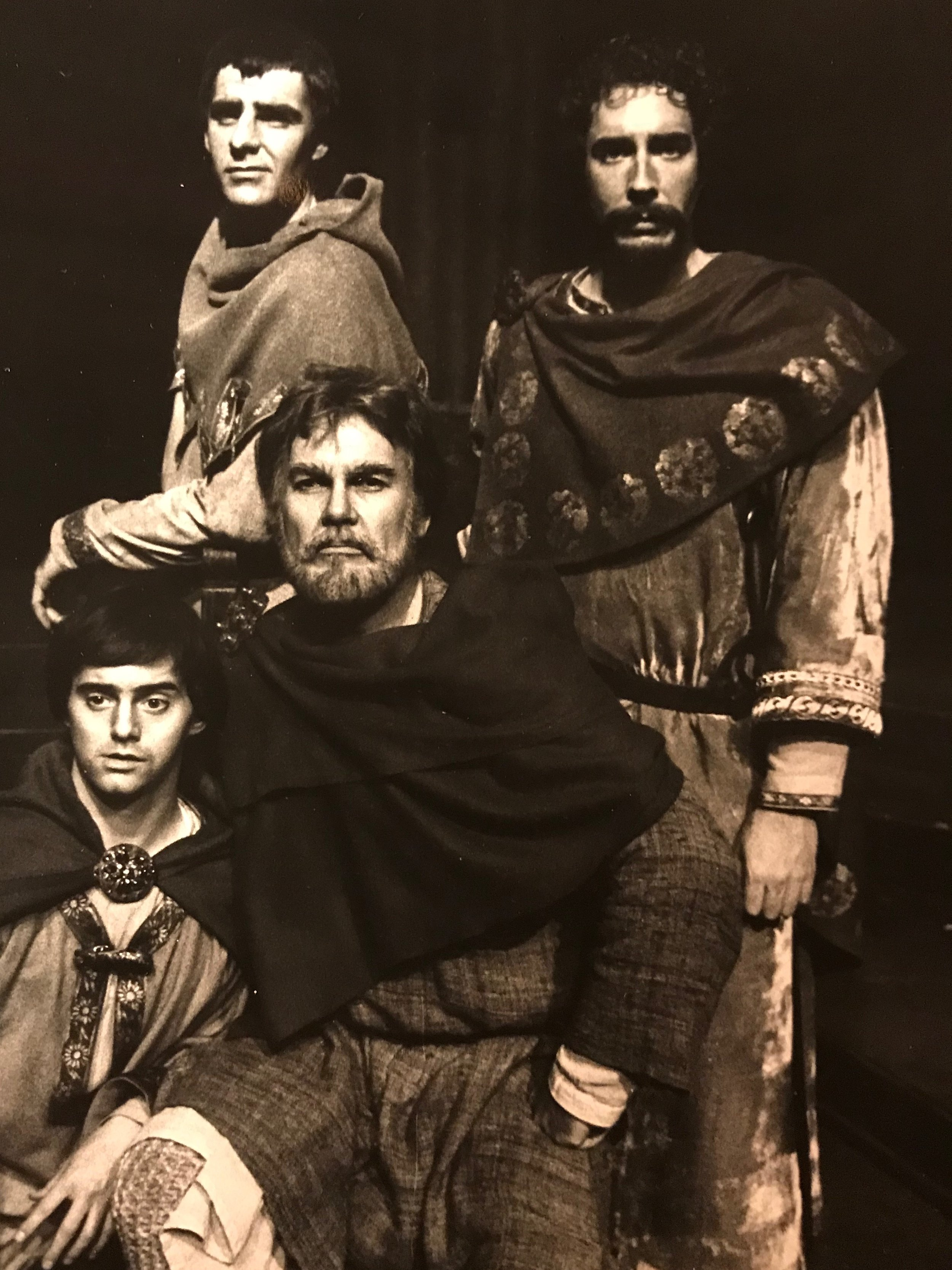 "As John in  The Lion in Winter  for The Merrimack Repertory Theatre - ""A Family Portrait"". (From Top Left to Right) David Zoffoli as Geoffrey, Edmund Davys as Richard, Rick Ford as John and Jim Oyster as King Henry."
