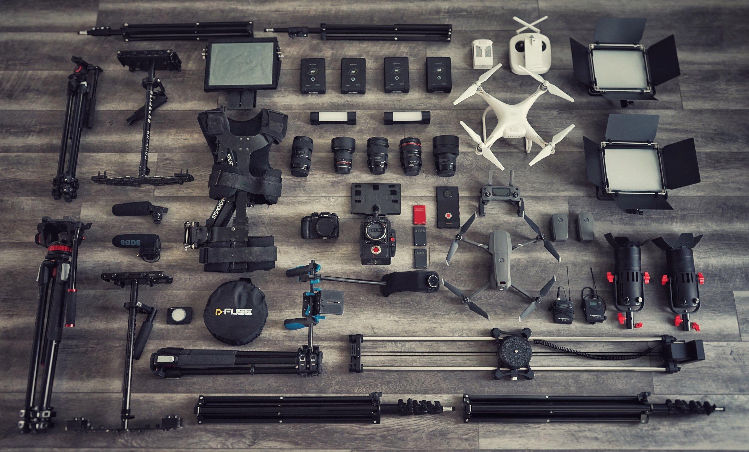 Aevium Films Equipment.JPG