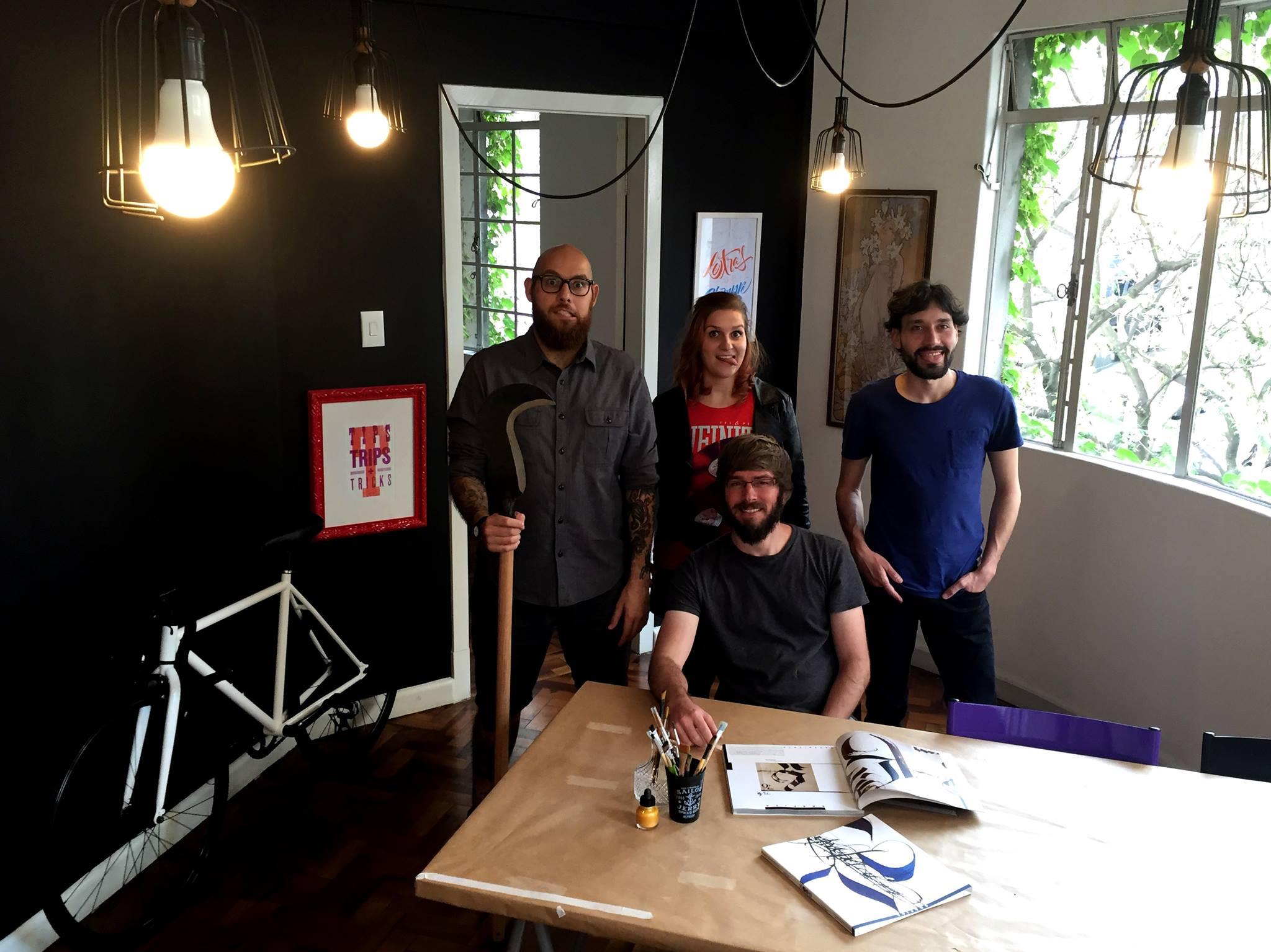 Me,  Cristina Pagnocelli ,  Eduilson Coan  and  Marcos Paulo Carvalho