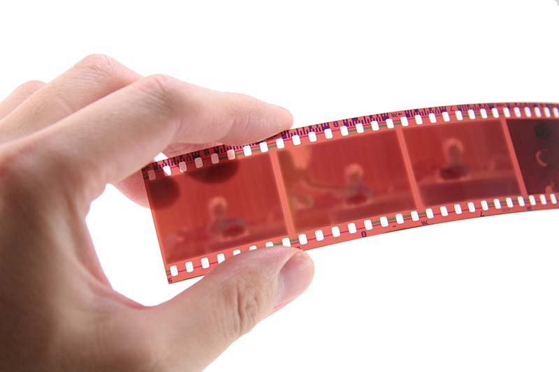 Film negatives can also be scanned to digital format images.
