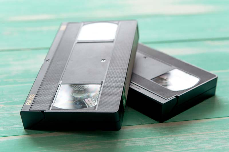 We can scan your VHS tapes into digital format.
