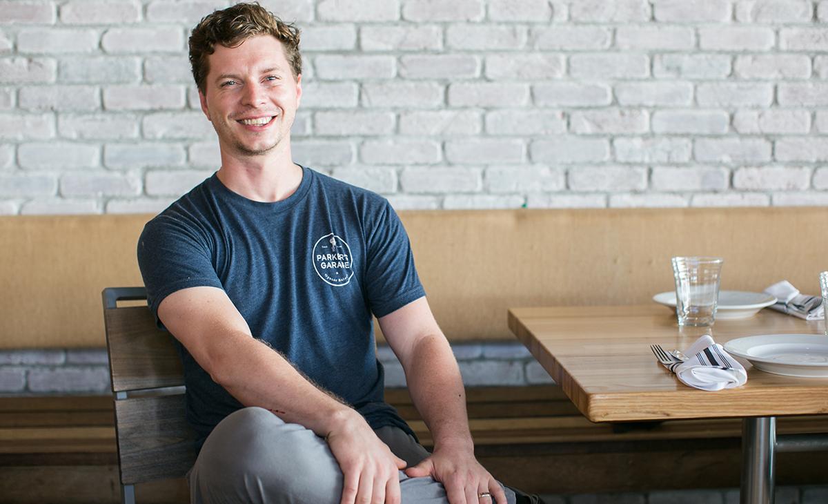 Chef Kyle Baddorf of Parker's Garage. Photo: Ann Coen.