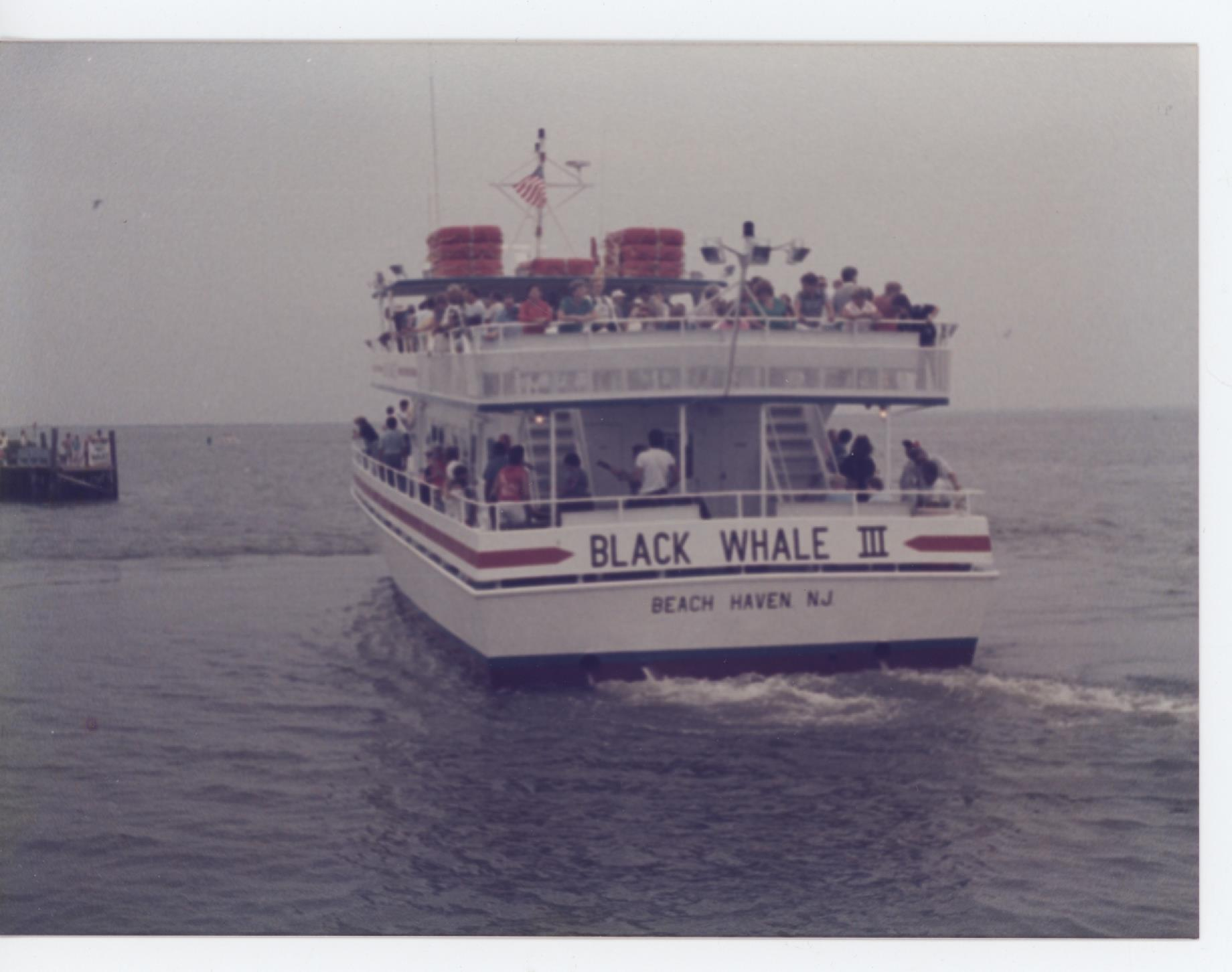 The Black Whale cruises, the namesake. Our restaurants aim to keep the original spirit of LBI alive. Photo courtesy of New Jersey Maritime Museum.