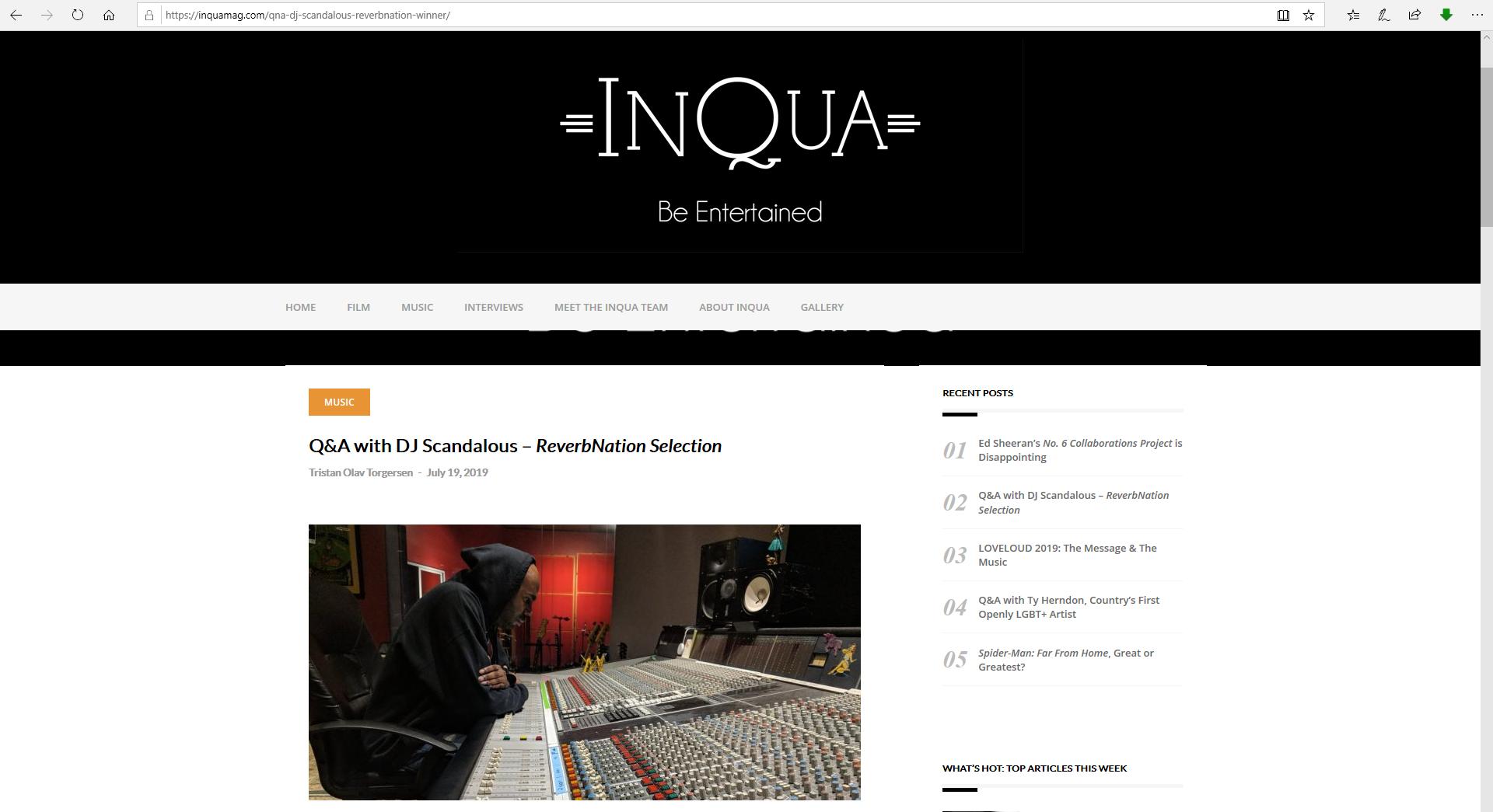 InQua Magazine | Q & A - July 19, 2019