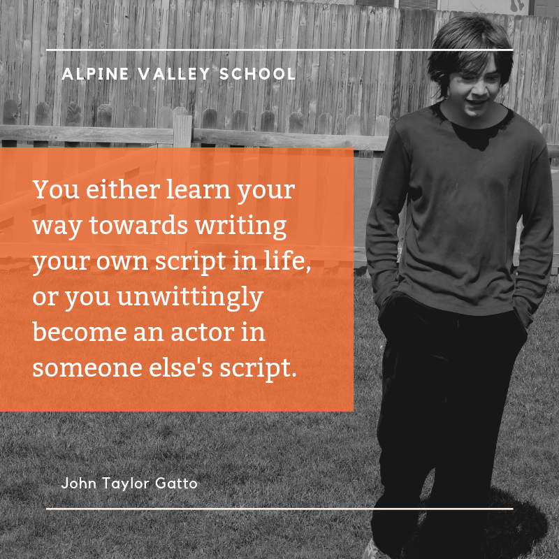 You either learn your way towards writing your own script in life, or you unwittingly become an actor in someone else's script..png