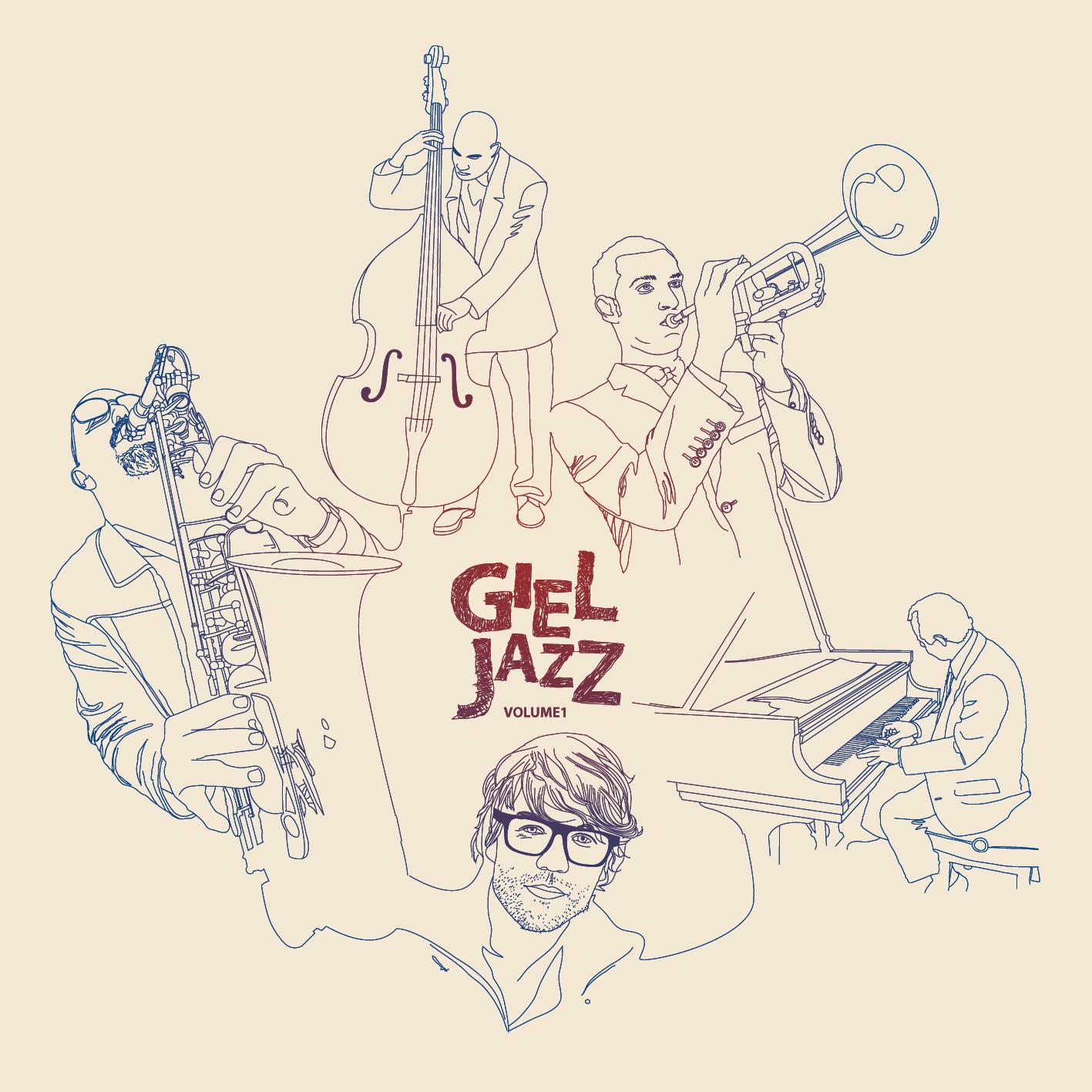 Afbeelding 1 van 2 - Giel Beelen Jazz CD Cover illustratie