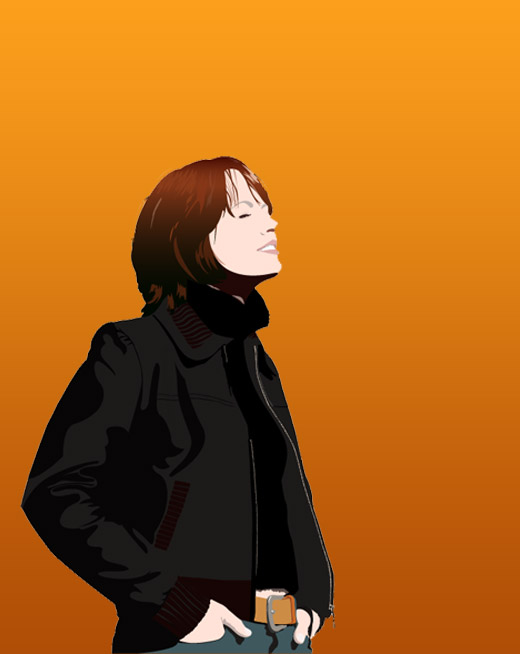 Illustratie 'Janette' - vector illustratie in Adobe Illustrator