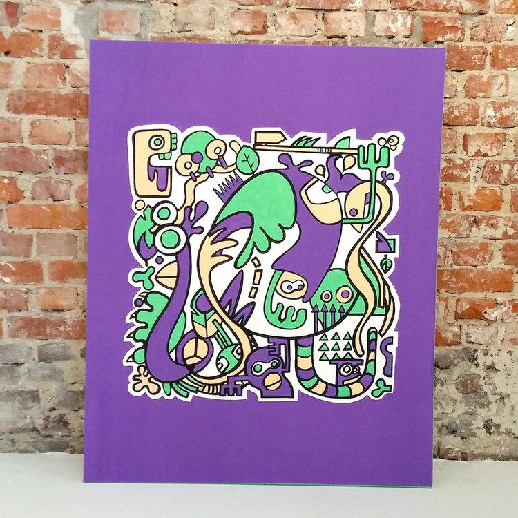 Afbeelding 2 van 4 - illustratie / schilderij 'Jungle