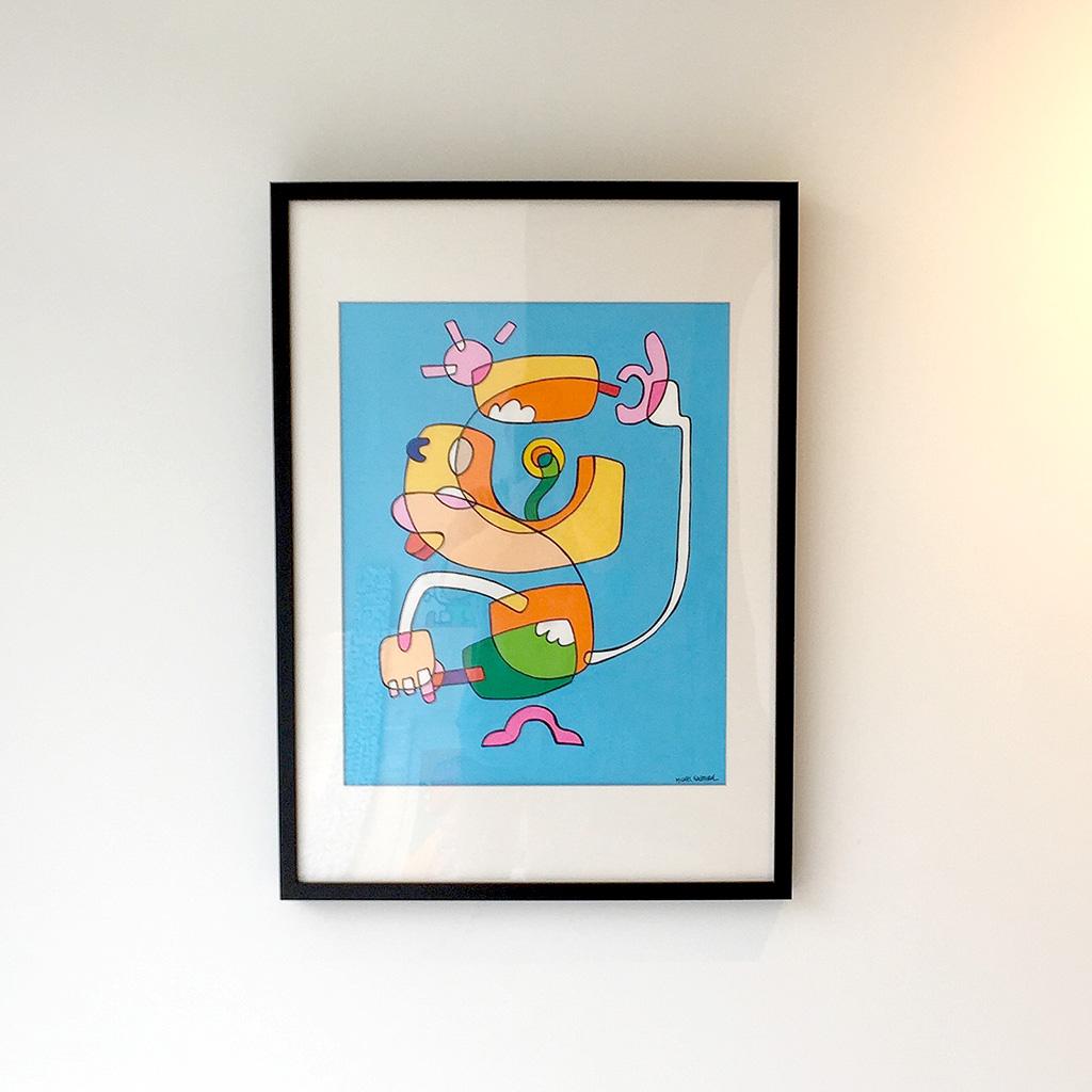 Afbeelding 1 van 3 - Voorzijde illustratie / schilderij 'Ice-cream Jedi'