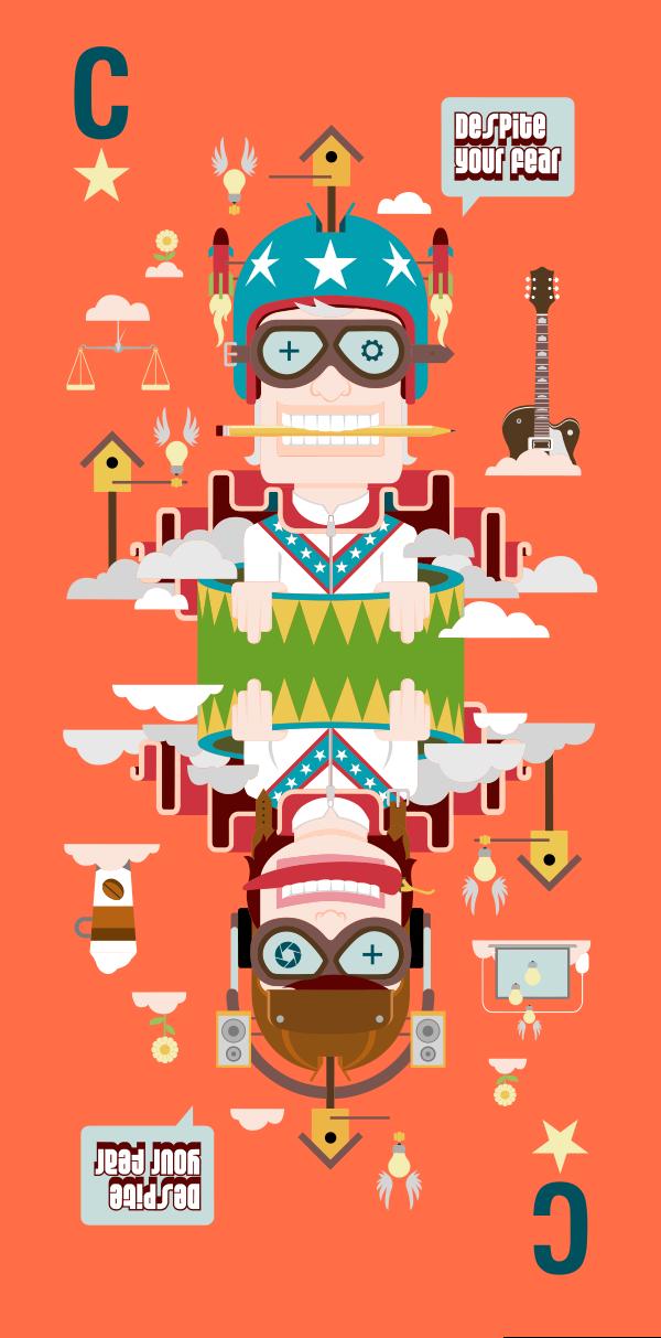 Afbeelding 2 van 2 - Illustratie 'Moed' voor design- en stylingbureau MOED-CSD.