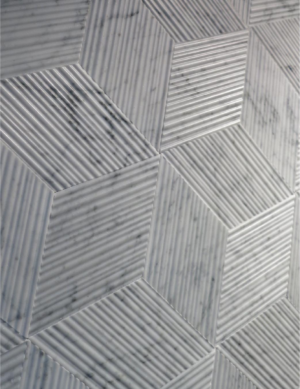 Dynamic tessellation of Carrara marble tiles