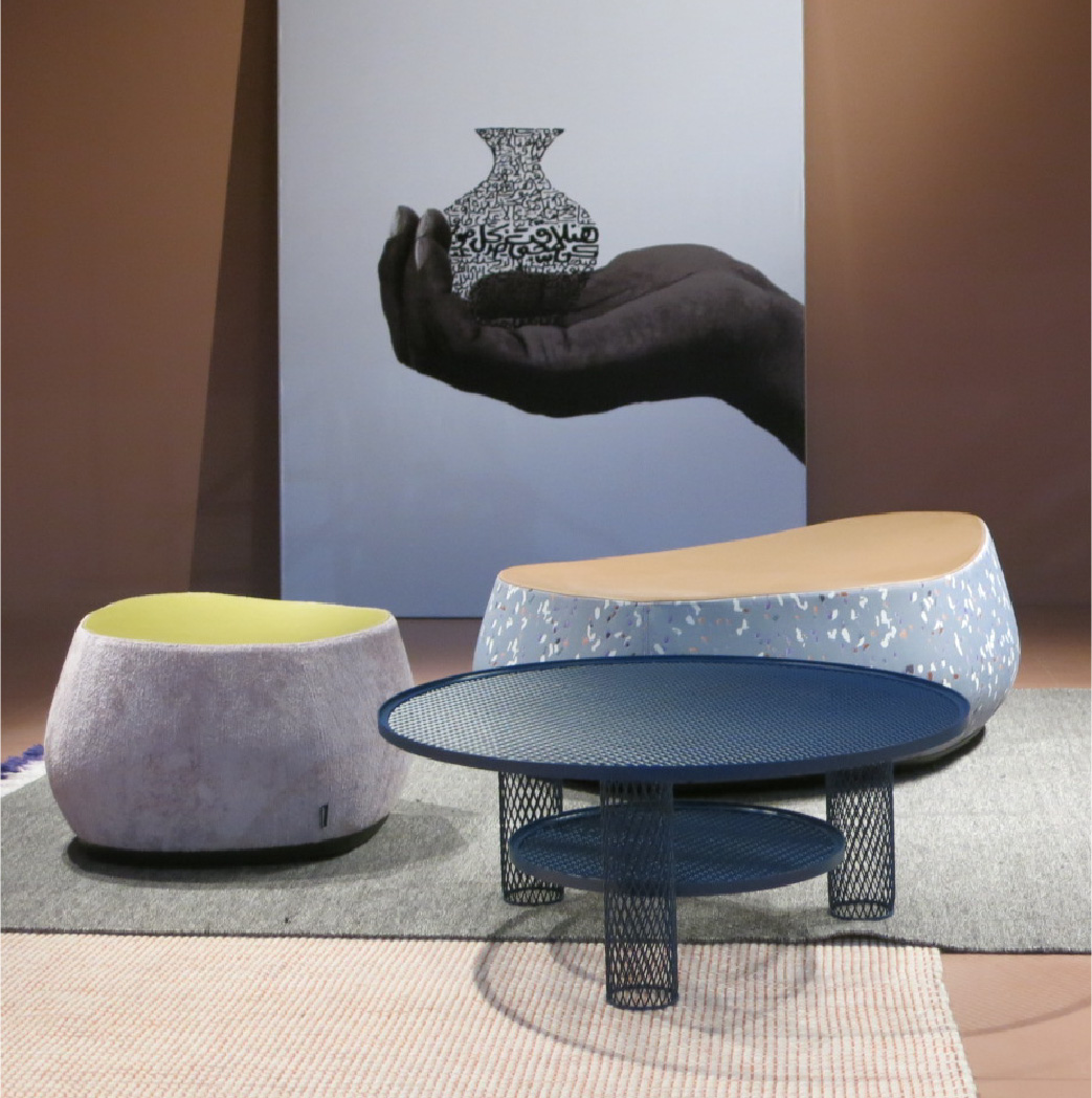 Moroso's sculpted, soft shapes