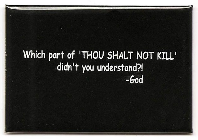 "When Were Animals Excluded From the commandments: ""Thou Shalt Not Kill,"" And ""Do Unto Others As You Would Have Them Do Unto You!??"""