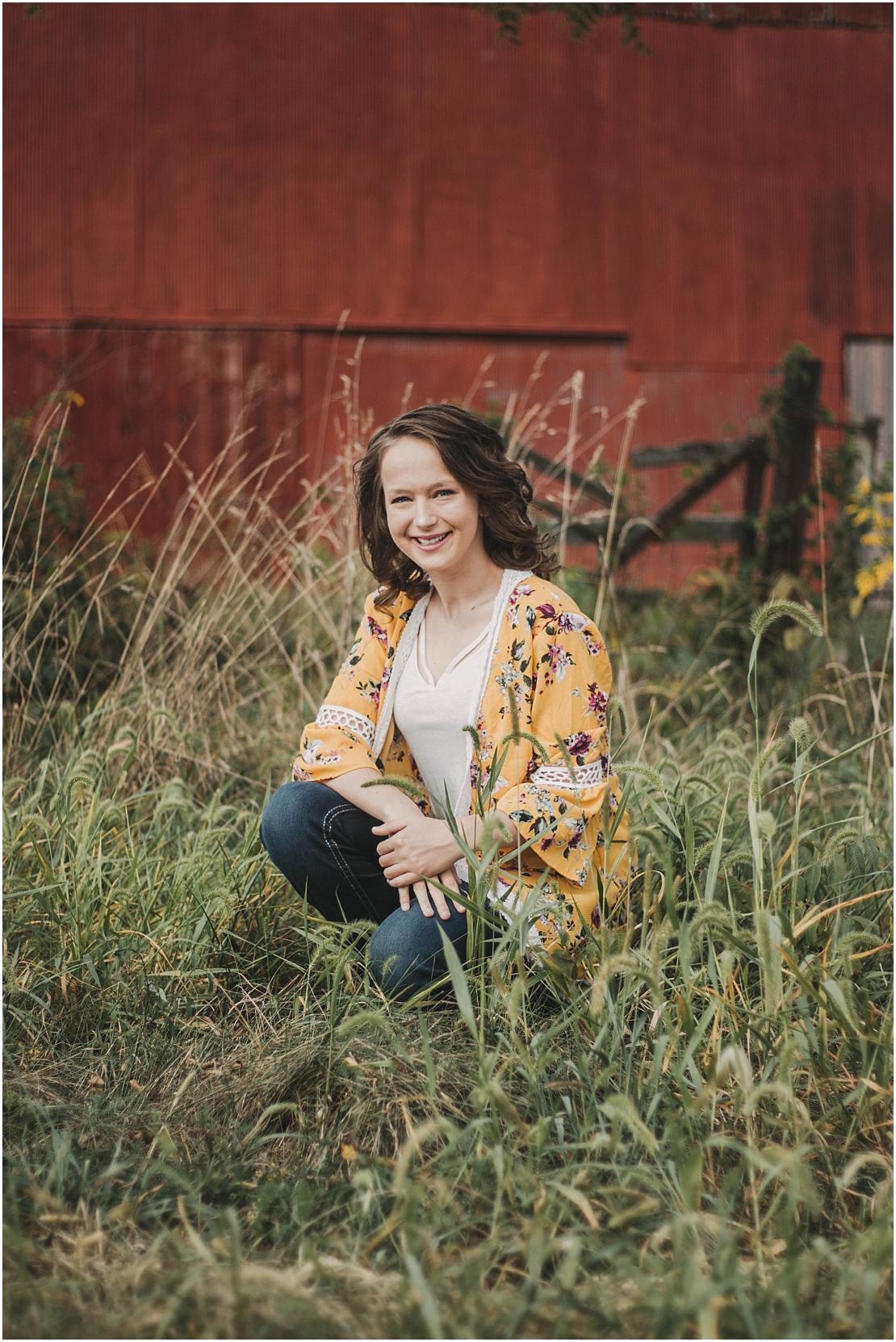 Michelle Senior Portraits | Peifer Orchards | Yellow Springs, Ohio