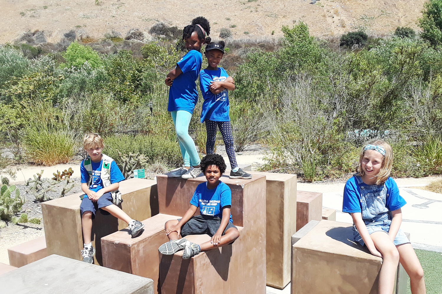Campers at Ballona Discovery Park
