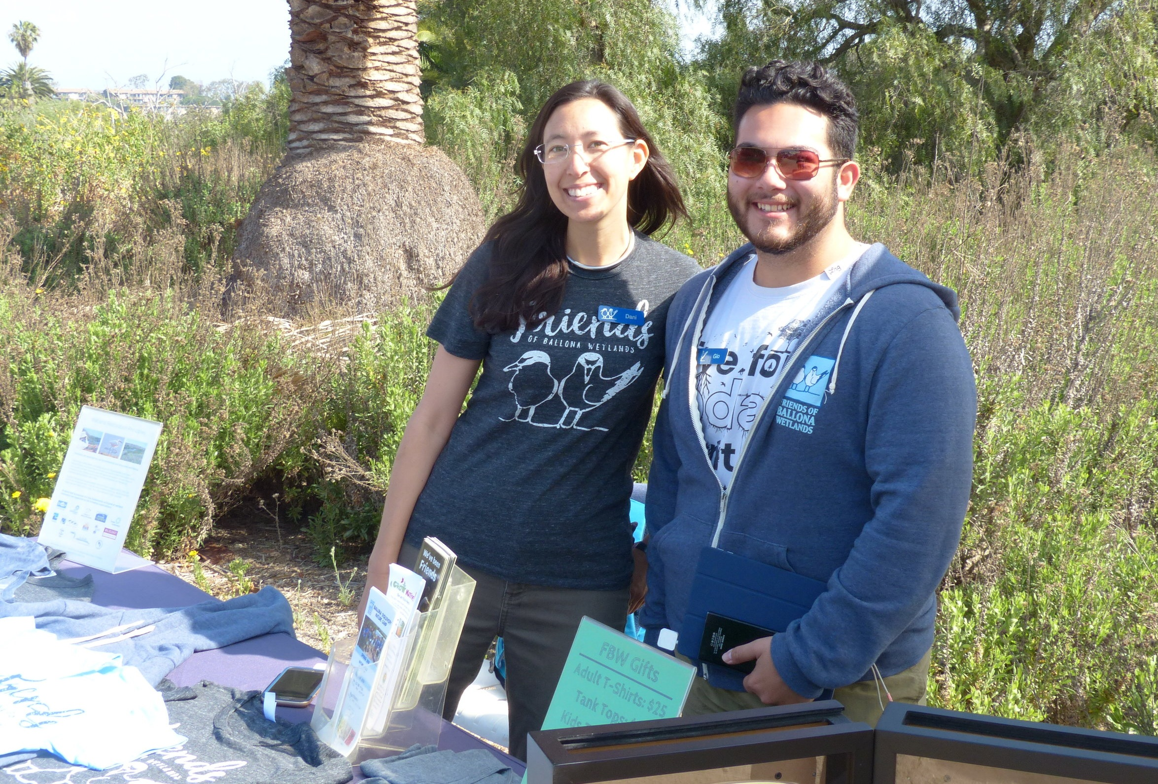 Friends of Ballona Wetlands Intern at a community event
