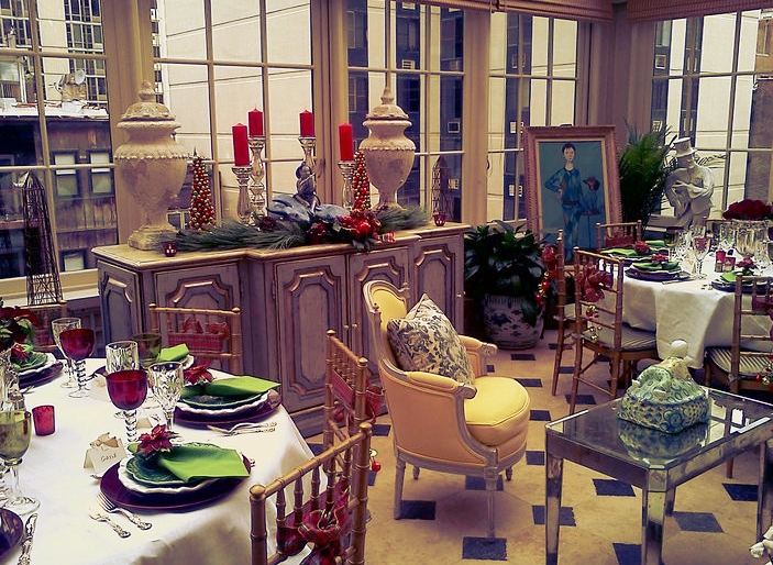 Tea Party in the Conservatory of a private home in Lake Forest, Illinois