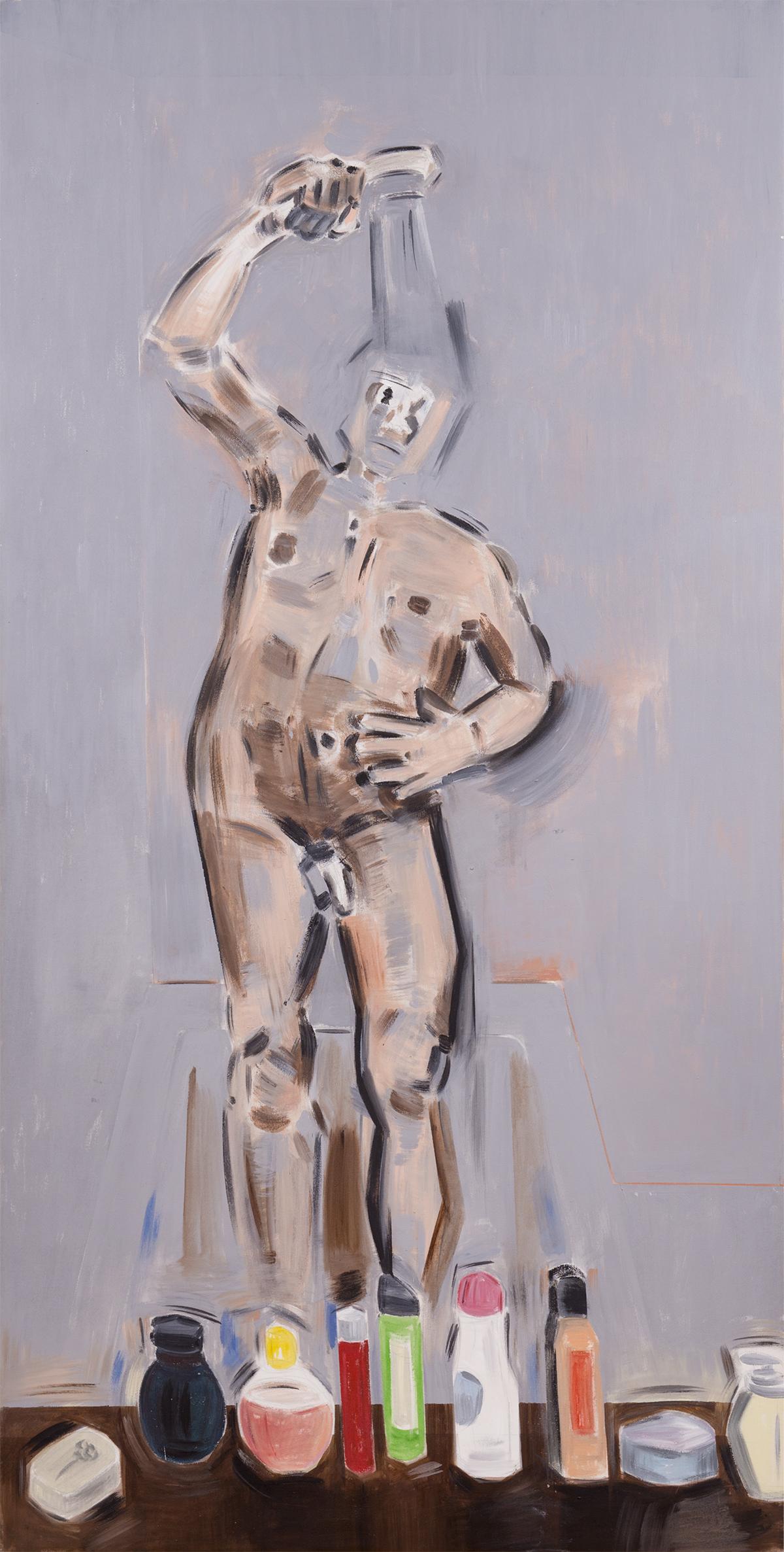 Untitled. Apostolos Georgiou. 2014 Acrylic on canvas. 78.5 x 39.5 inches