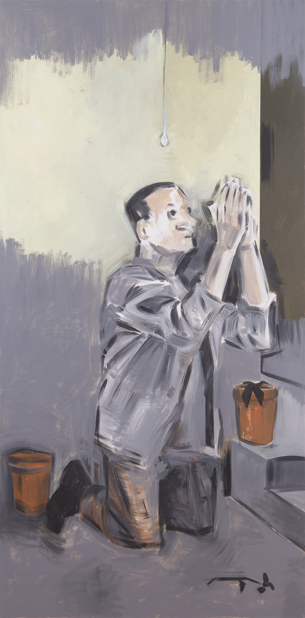 Untitled. Apostolos Georgiou. 2013. Acrylic on canvas. 78.5x 39.25 inches