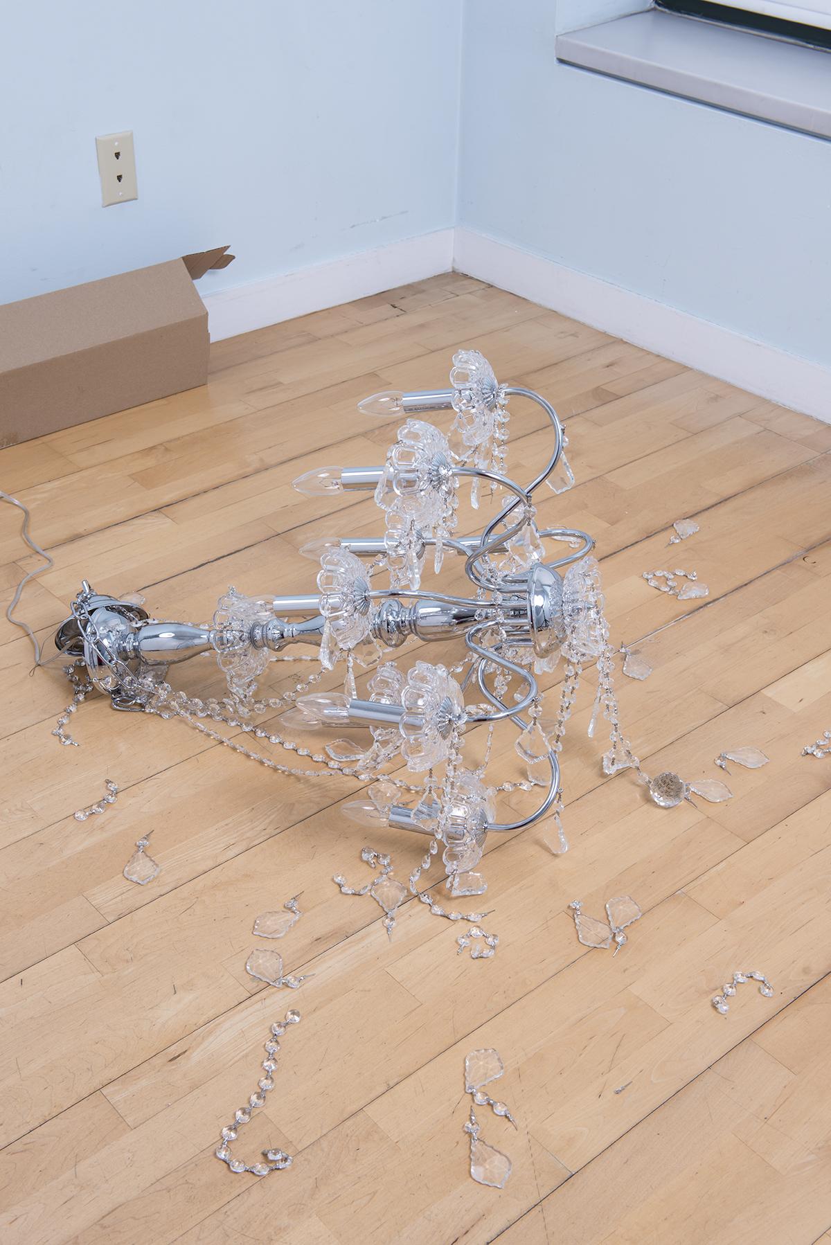 The Fallen Chandelier. Ilya and Emilia Kabakov. 1997. Installation Dimensions variable