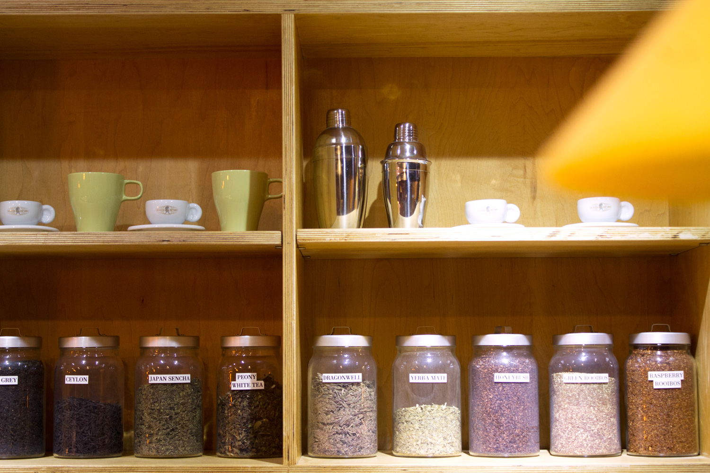 Hanco's brewed tea leaves on the shelf