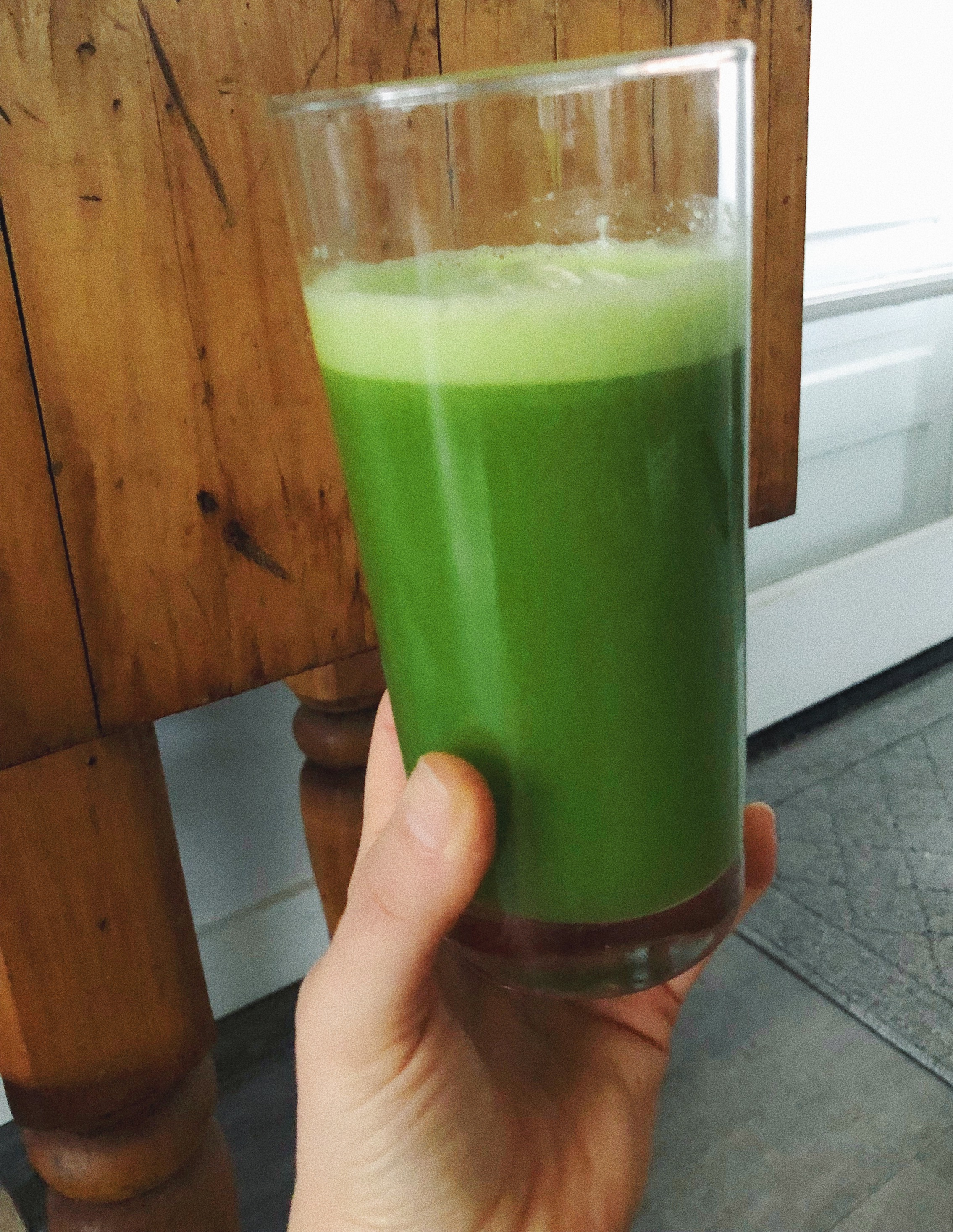 Green juice is a great way to get lots of nutrients and support the liver.