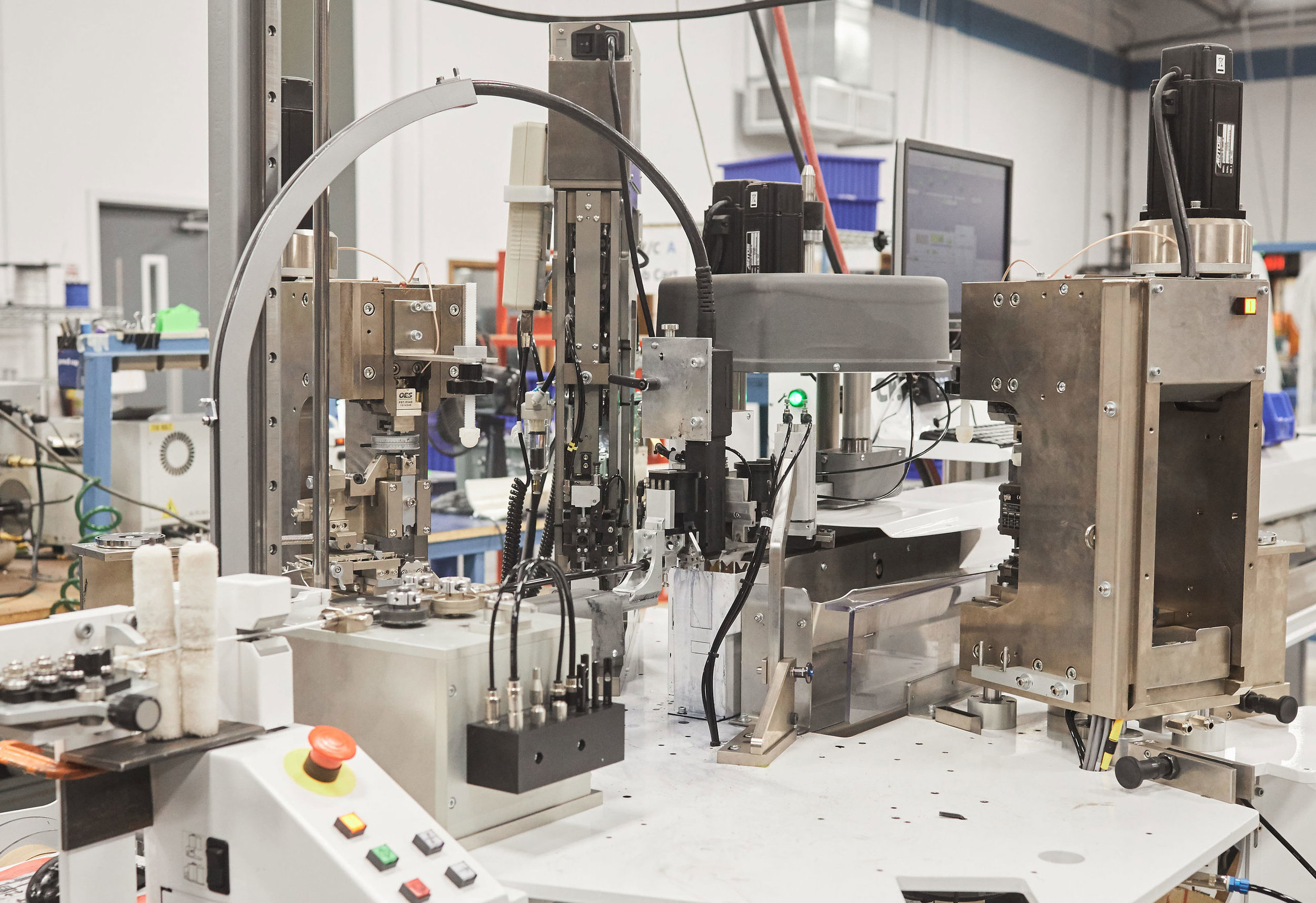 Fully automated wire processing - • Marking     •Seal application•Stripping    •Terminating•Cutting      • 30 awg to 10 awg