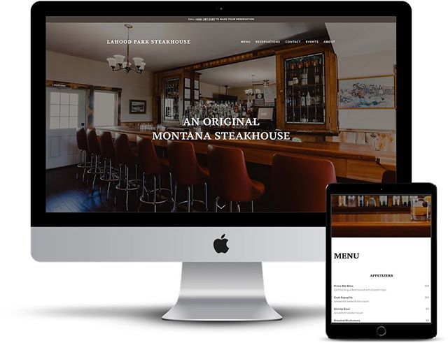 ⚡️ #CoolClientFriday ⚡️(yep, it's now a thing) I recently had the unique opportunity to design a website for @lahoodpark - a steakhouse and tavern in Southwest Montana, which also happens to be my family's old business (we owned it for 26 years! 😮) LaHood's is a true Montana experience, rooted in local support, a hardworking team and a location that can't be beat. We stayed true to its classic Western flair while adding in some updated touches. Check out more at lahoodparksteakhouse.com ✔️ #squarespacedesigner