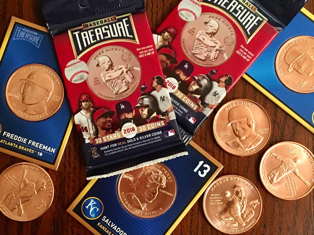 photo credit Todd Radom  These dies from Baseball Treasure's™ inaugural set are going to be auctioned off through  MLB®  auctions:  https://auctions.mlb.com/ . Be the highest bidder and you can own a piece of this company's history. Coming later in 2019 is Baseball Treasure II. Look out for new players and new coins!