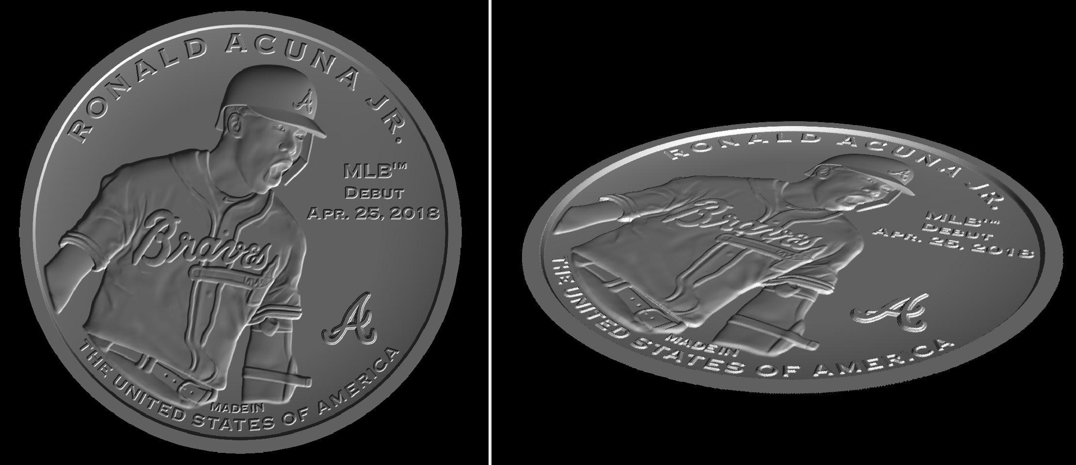 Ronald Acuna Baseball Coin