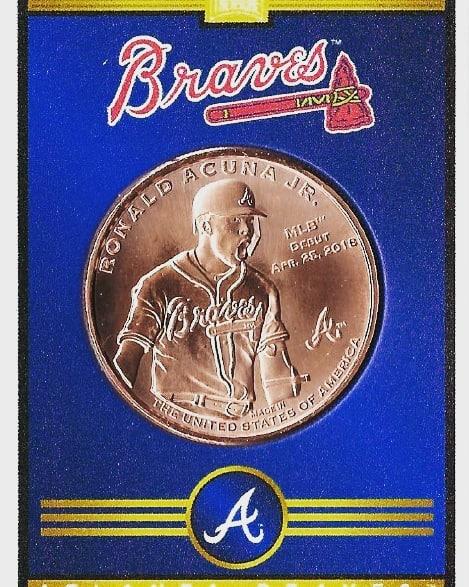 How about that contract! #atlanta #braves #chopon #baseball #coins #collect #thehobby #jointhehunt #mlb #mlbpa #hitcoins #baseballtreasure #baseballcards