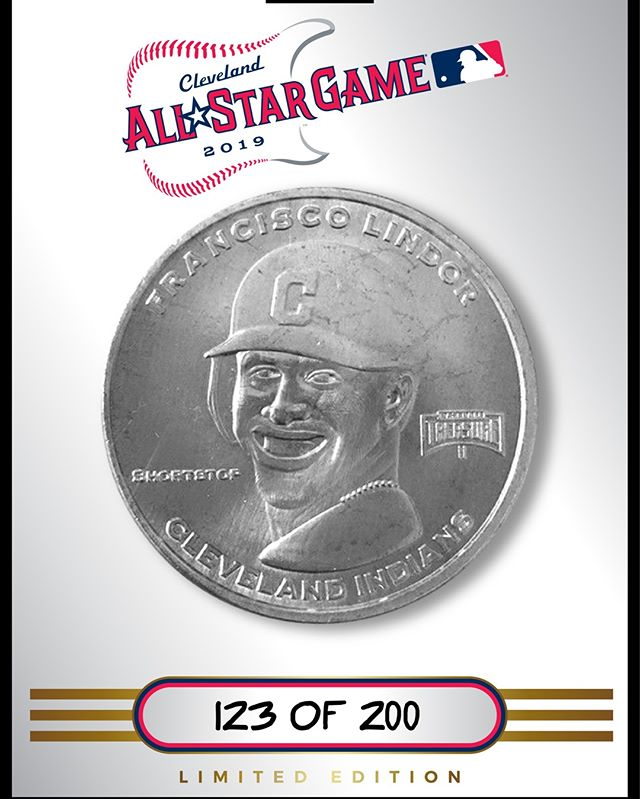 Never made it to production. #AllStarGame #Cleveland #coins #baseballtreasure #silver #collect #thehobby #jointhehunt