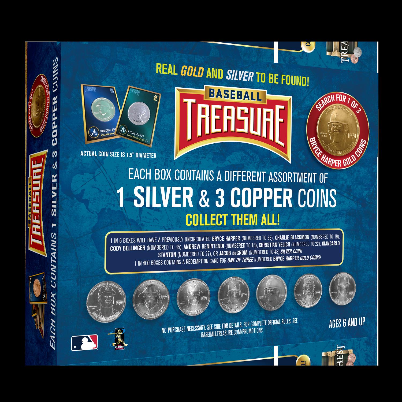 Baseball Treasure Chest Bryce Harper Gold Coin
