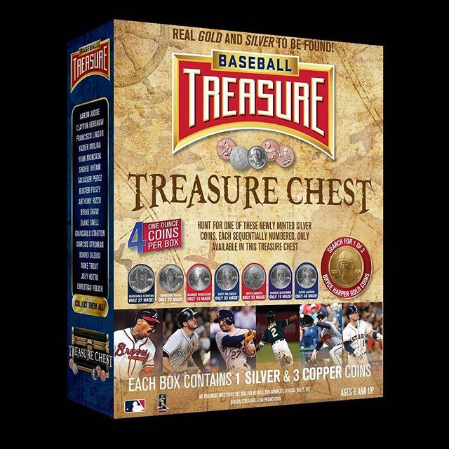 Baseball Treasure Chest. New. A real #silver or #gold coin in every box. #collect #thehobby #jointhehunt #mlb #mlbpa #baseball #coins #baseballcards #hitcoins
