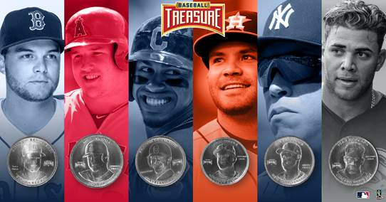 Each week fans will choose 1 of 6 players featured the group to as to who they think will get the most hits for the week. 12 fans, at random, will win a copper coin of their player from all of those who guess correctly.    No purchase necessary.