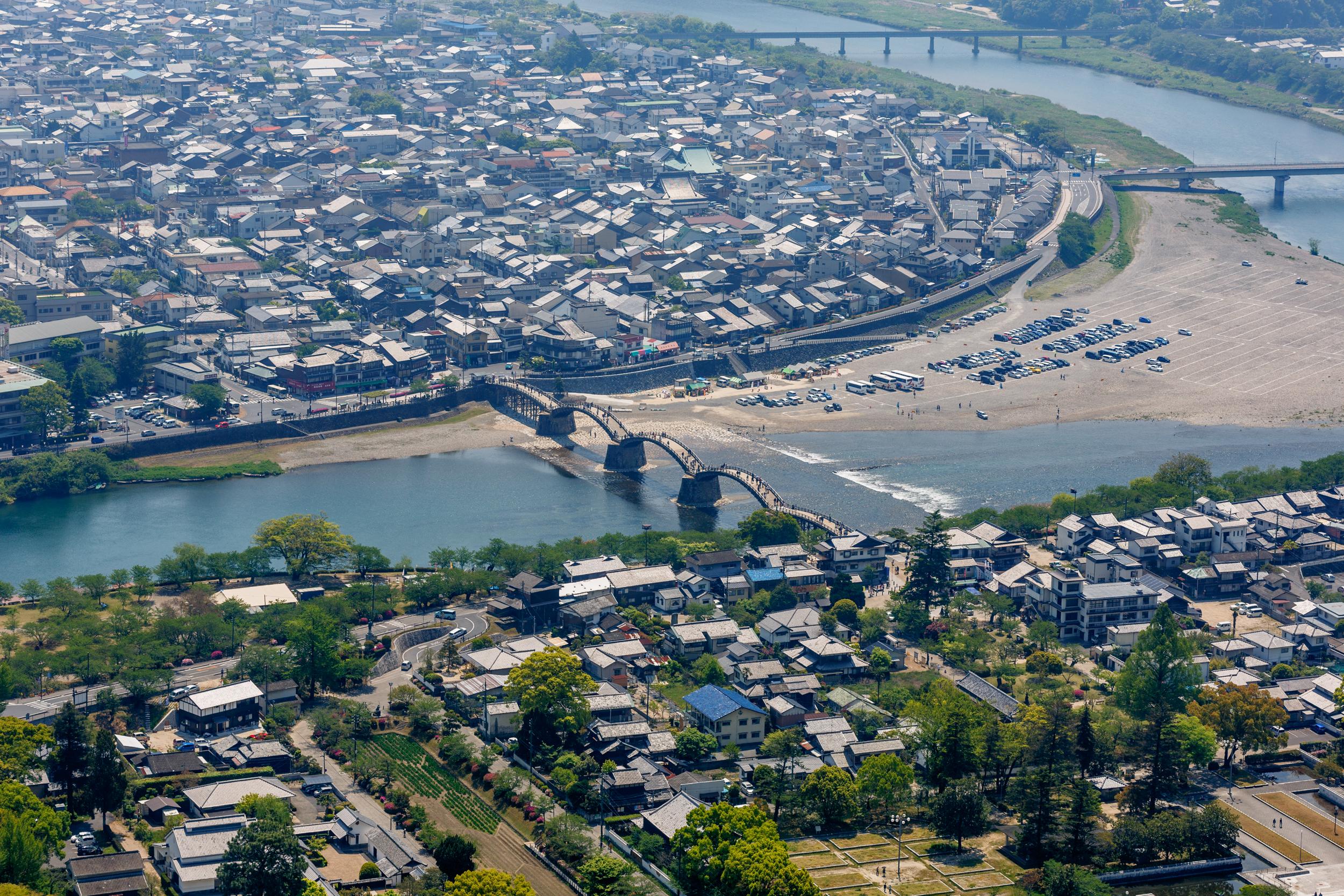 Kintai Bridge from Iwakuni Castle