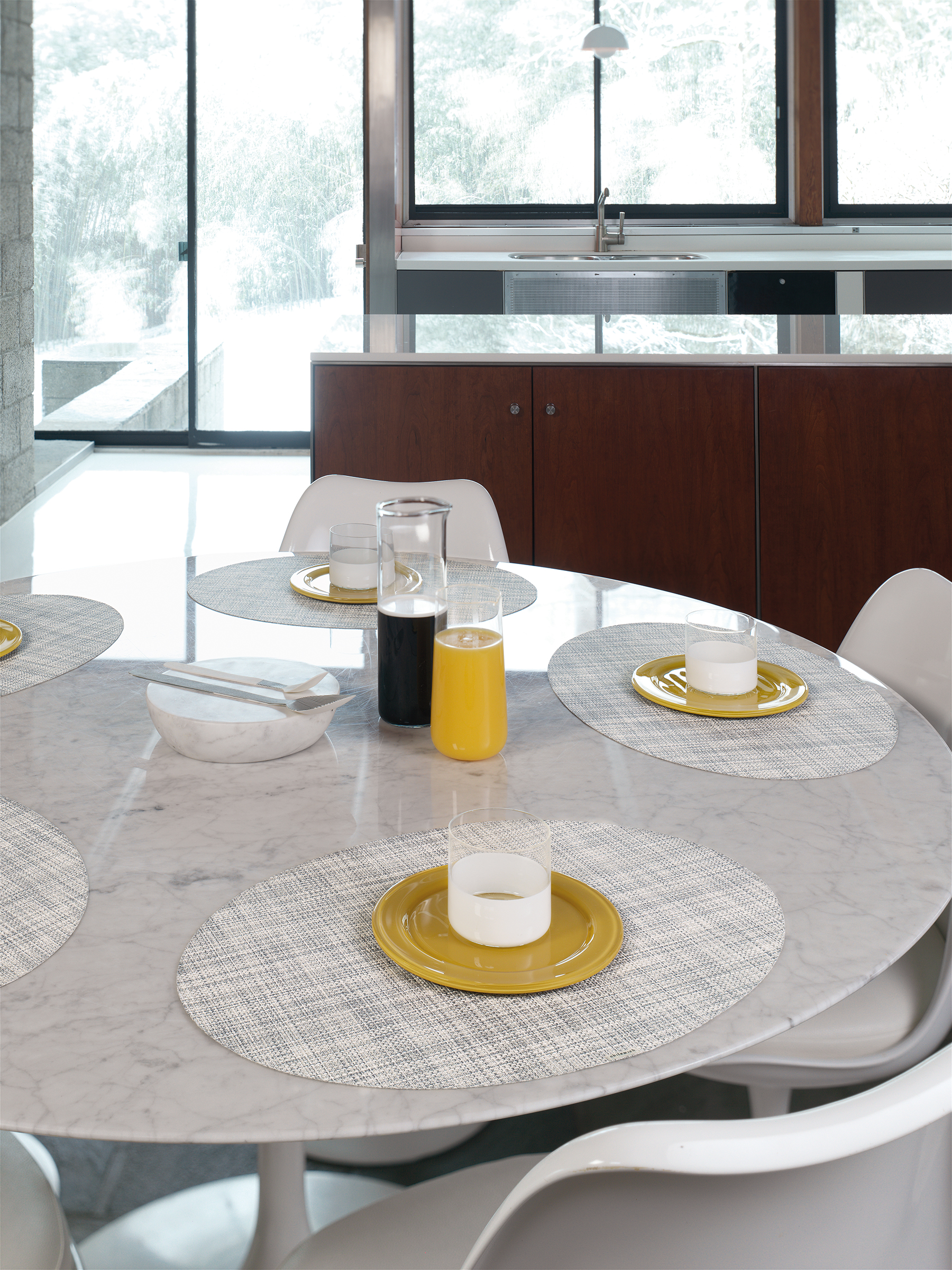 Chilewich Mini Basketweave placemats in mist_photo by Victor Schrager.jpg