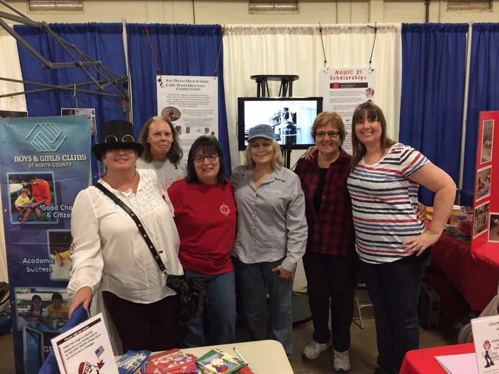 (L to R) Teran Breceda, Jan Parthemer, Anita Villani Barnes, Rhonda Mitchell, Linda Young, and Shannon Carner at the 2016 STEAM Maker Festival.