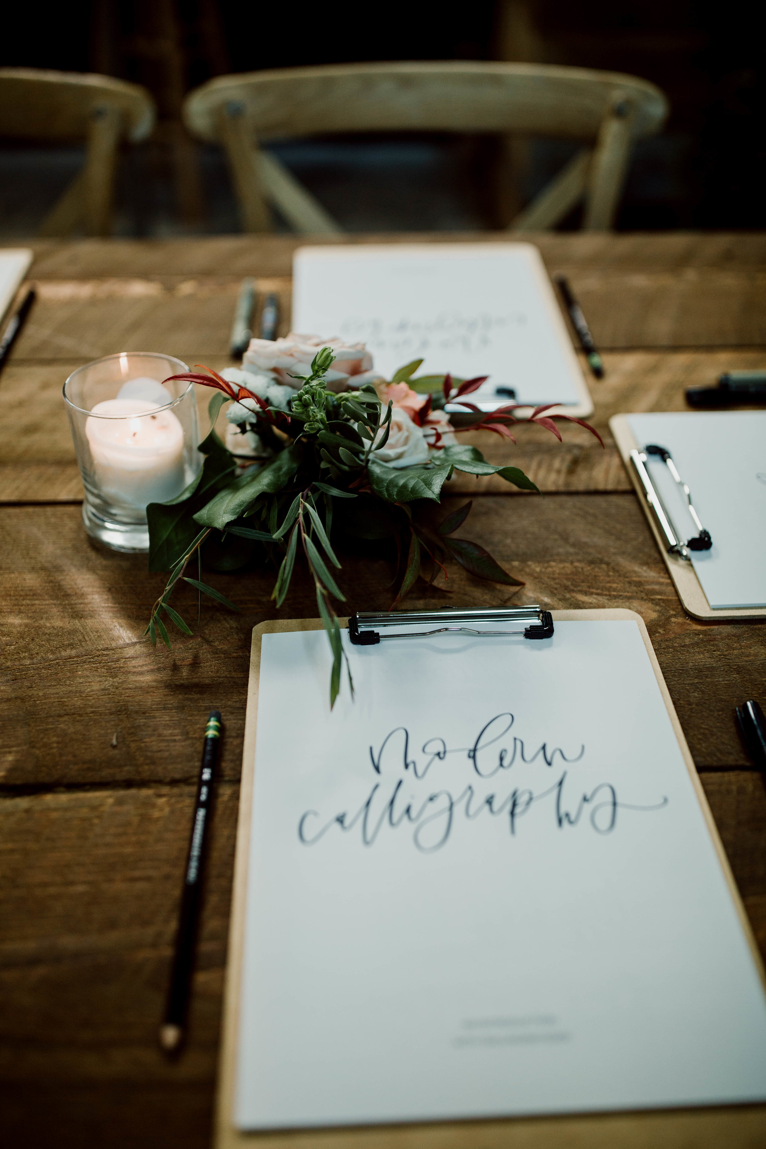modern calligraphy workshop class for beginners