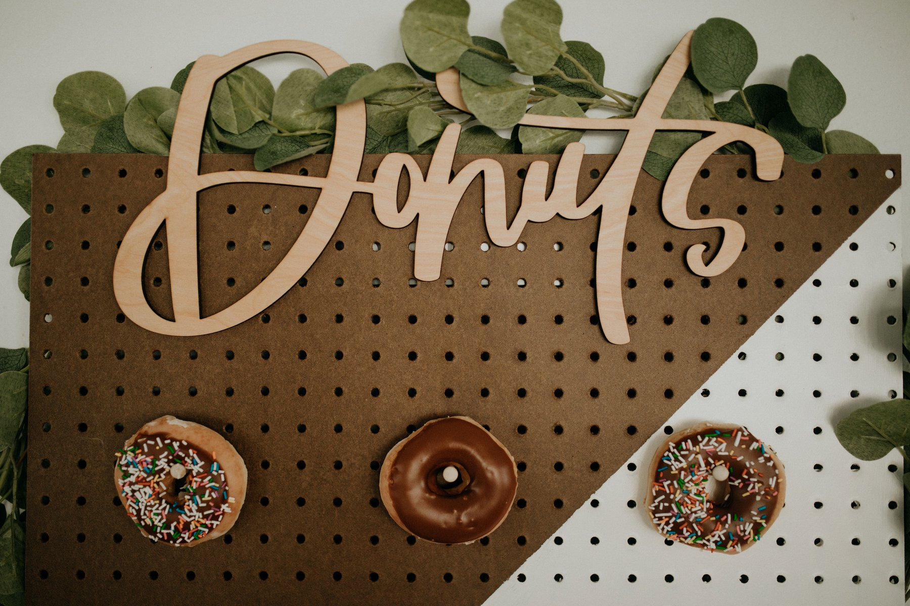 Laser Cut Wood Donut Wall Sign