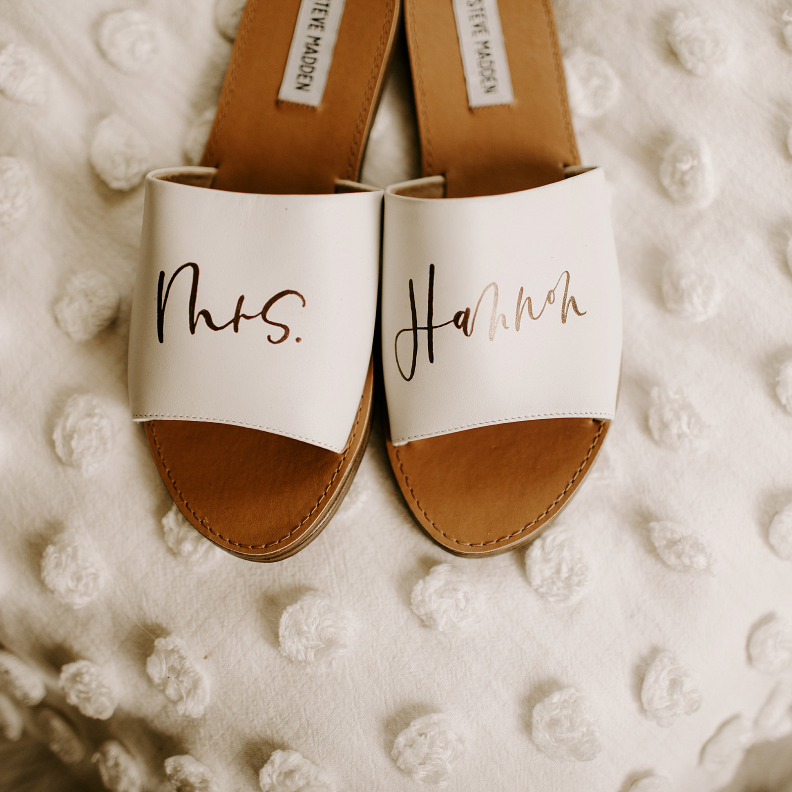 Hand Lettered Bridal Flats