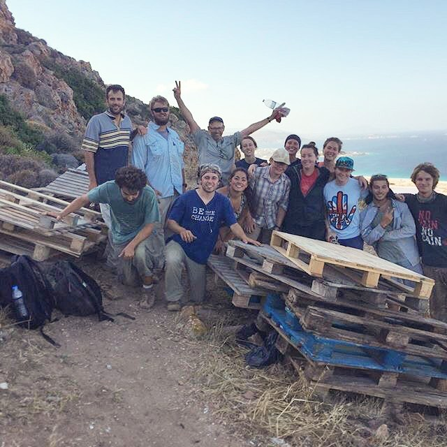 Yesterday our team carried about 60 wooden palettes up Stélida and backfilled all of our trenches on the hill. This is done to prevent things and people from falling in as the exacavation season comes to an end. Check out these happy faces! 😁😍💪 #stelida2017 #archaeology #αρχαιολογία #archaeologist #archaeological #excavation #archaeologists #dig #naxos #Ναξος #greece #Ελλάδα #backfill #trench #trenches #wooden #palettes #teamworkmakesthedreamwork