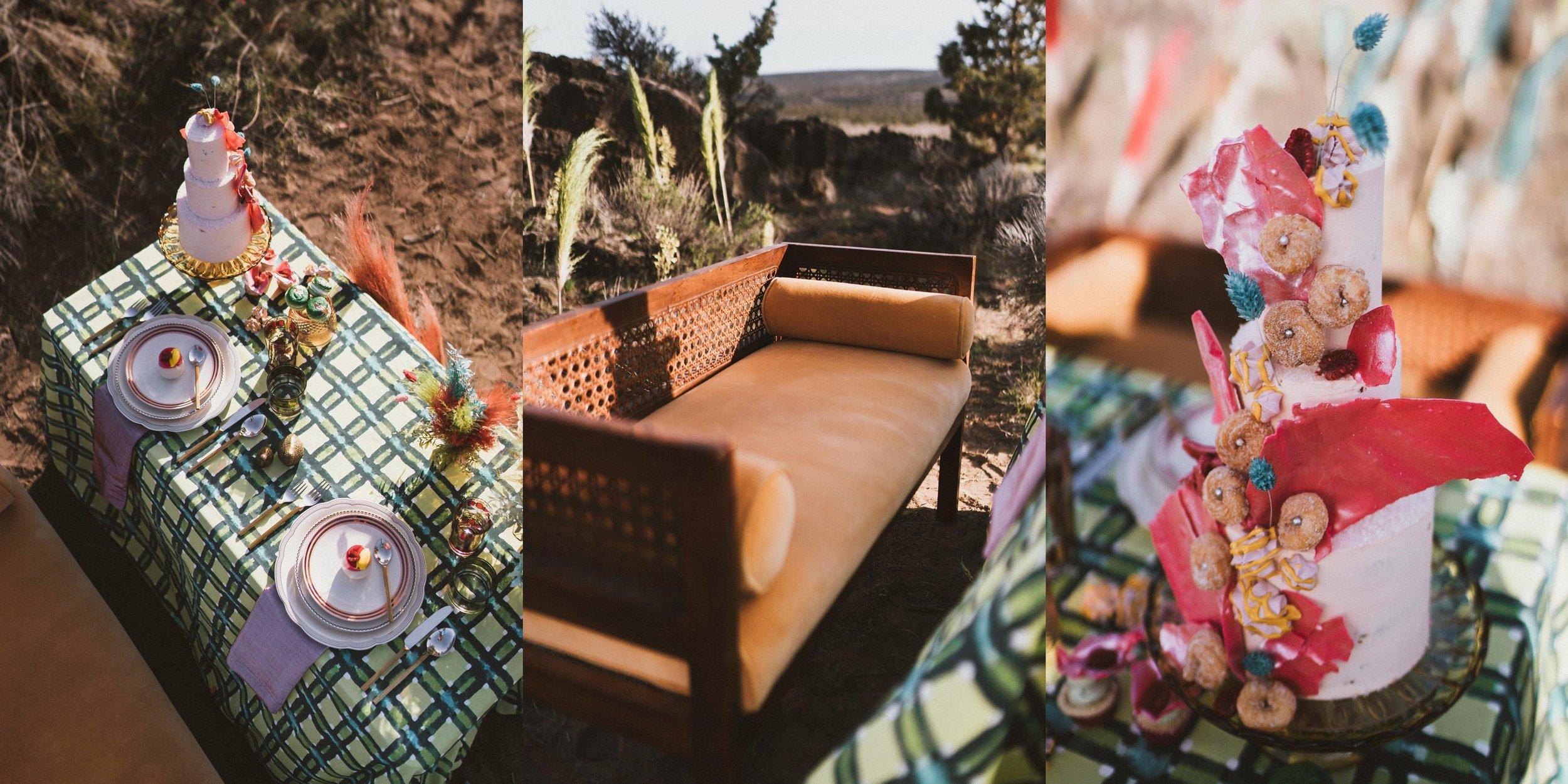 TONY-GAMBINO-PHOTOGRAPHY-BEND-OREGON-WEDDING-SHOOT_1485 Table Cake Vintage Seat.jpg