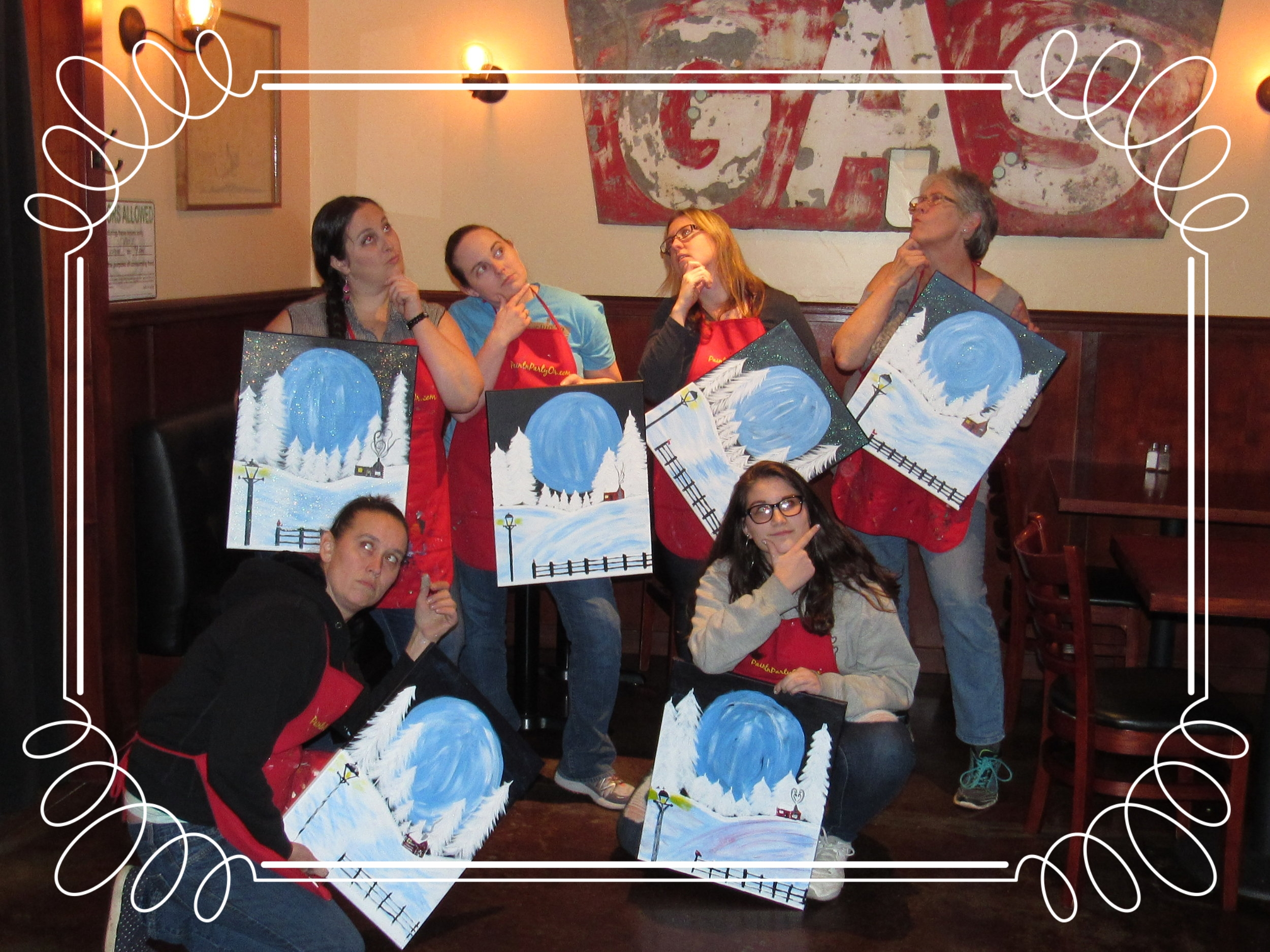 """""""Thinkers"""" Girls Night PaintnParty, Albany"""