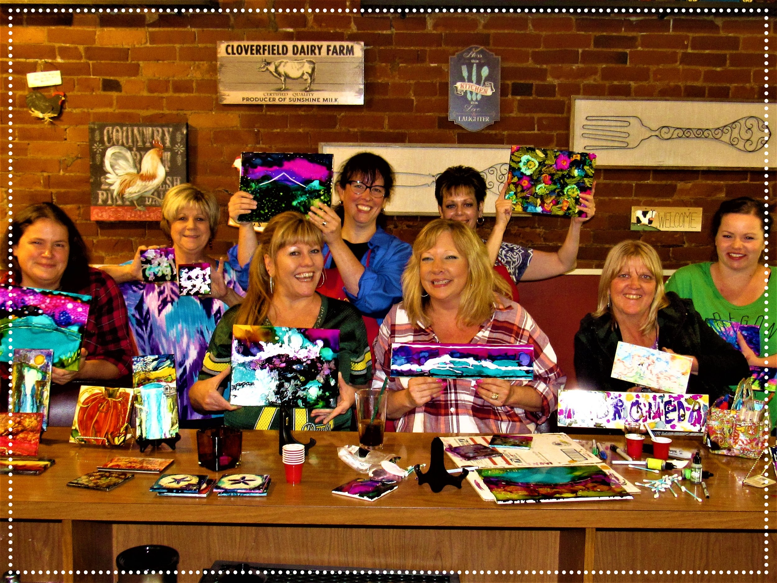 Sharpies & Alcohol Inks-Towne House Cafe, Silveton
