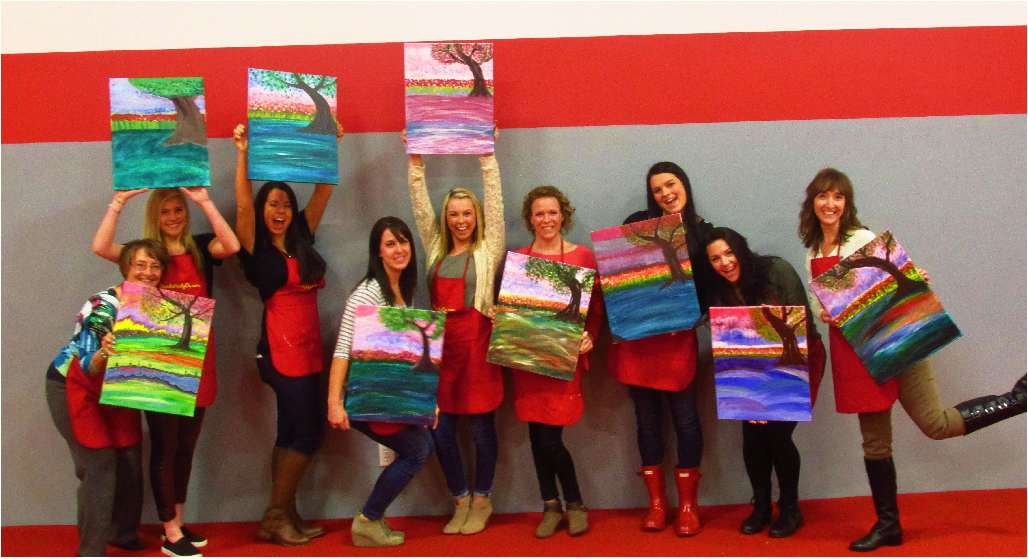 A gratuity is always appreciated! - WHEN 10+ PAID GUESTS ATTEND, the 11th PAINTING IS FREE FOR HOSTING!