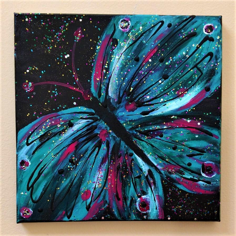 Glitterflies-Aqua $35