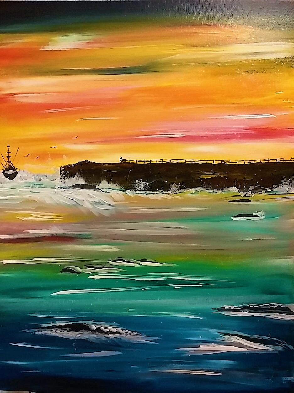 Sunset Ship $40