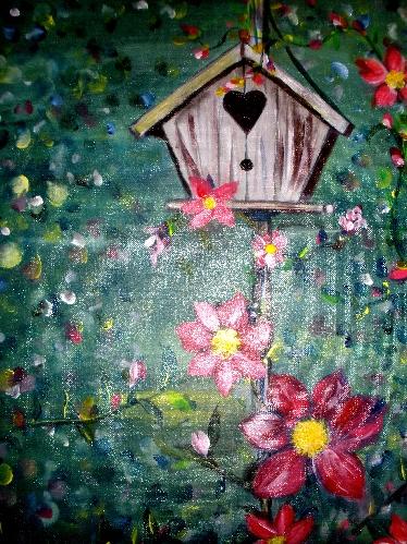 $35 Clematis Bird House