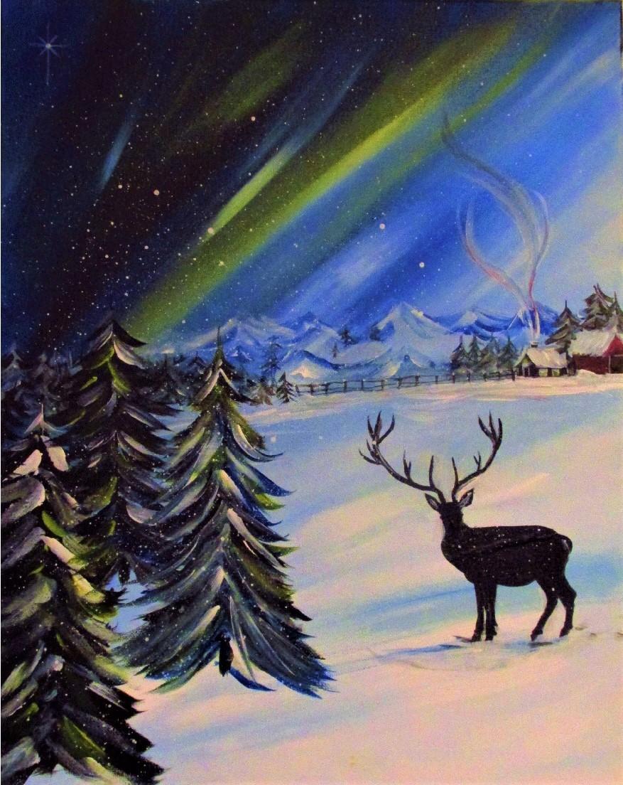 $35 Northern Lights Reindeer